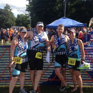 Post Race at the Cranberry Tri Fest Olympic Distance