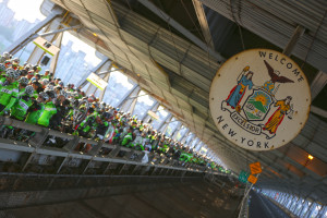 Start of the Gran Fondo on George Washington Bridge